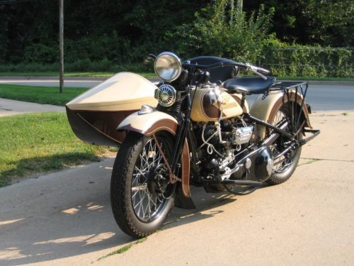 1935 Harley-Davidson VLD BROWN & CREAM for sale