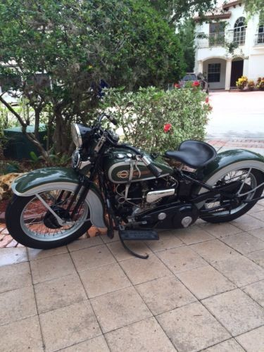 1936 Harley-Davidson VLD Green with Grey side panels craigslist