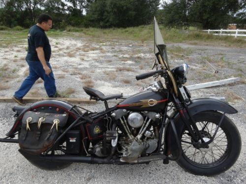 1938 Harley-Davidson EL OHV Knucklehead Black for sale