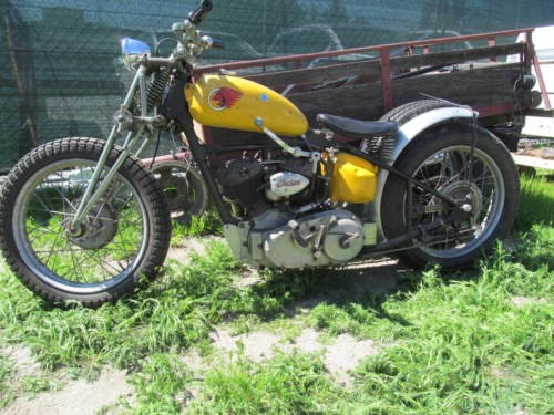 1939 Indian Sport Scout tracker Bonneville Yellow photo