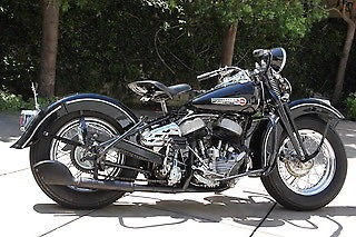 1947 Harley-Davidson WLA Black photo