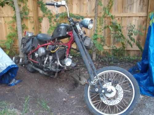 1948 Harley-Davidson flathead red and black for sale