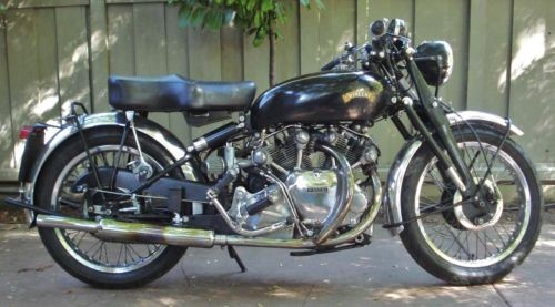 1951 Vincent RAPIDE Black photo