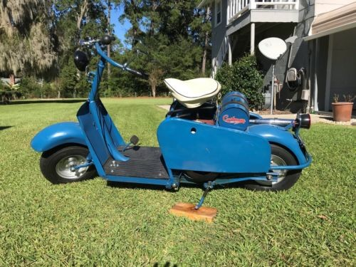 1958 Cushman 721 Highlander Blue photo