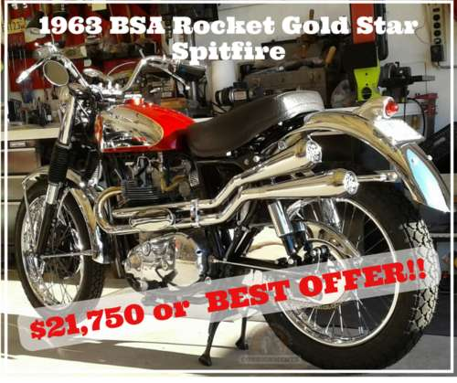 1963 BSA Rocket Gold Star Red and Lots of Chrome craigslist
