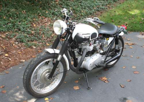 1963 Triumph Bonneville White photo
