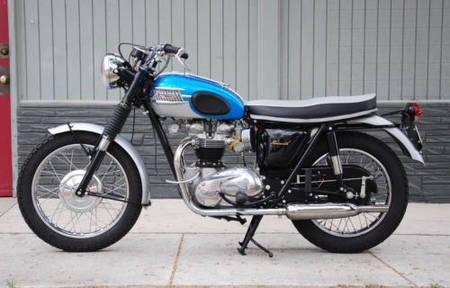 1965 Triumph Bonneville Blue photo