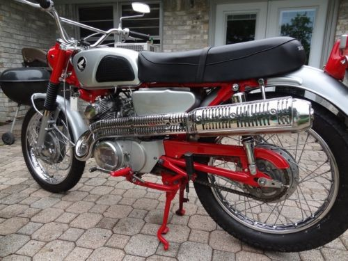 1966 Honda CL Red/Silver photo