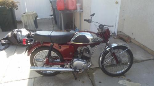 1967 Yamaha yl1 Burgundy photo