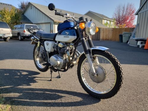 1968 Honda CL Blue photo