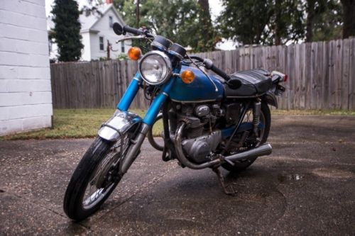 1971 Honda CB Blue photo