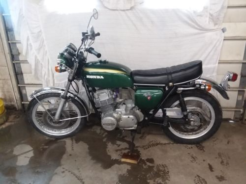 1971 Honda CB Green photo