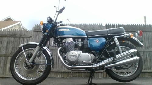 1971 Honda CB candy blue green for sale