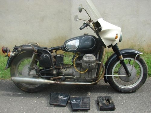 1971 Moto Guzzi Ambassador Black with White fairing photo