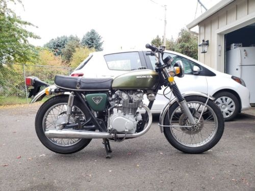 1972 Honda CB Green photo