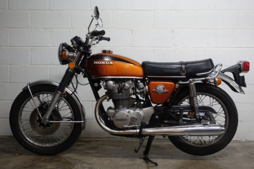 1972 Honda CB Orange photo