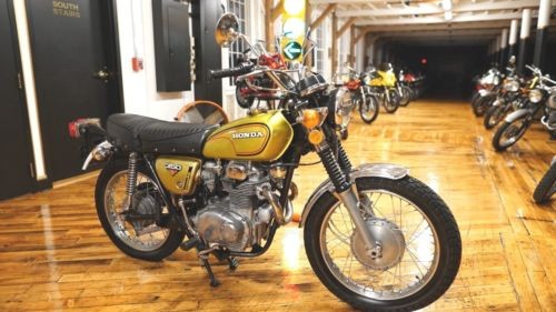 1972 Honda CL Candy Panther Gold photo