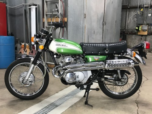 1972 Honda CL TURQUOISE GREEN METALLIC for sale