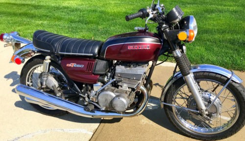1972 Suzuki GT550 Burgundy for sale craigslist