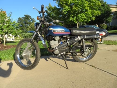 1973 Harley-Davidson Enduro (Rebel) Blue photo