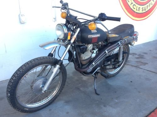 1973 Harley-Davidson TX 125 Enduro Black photo