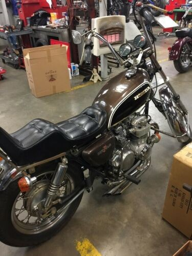 1973 Honda CB Brown photo