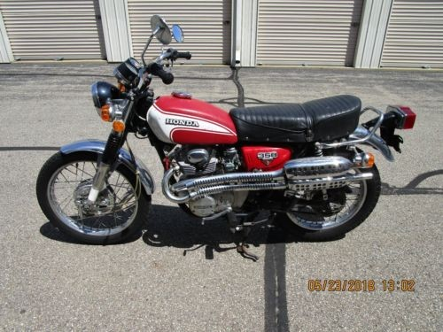 1973 Honda CL Red photo