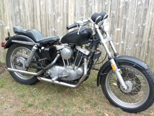 1974 Harley-Davidson Sportster Black photo