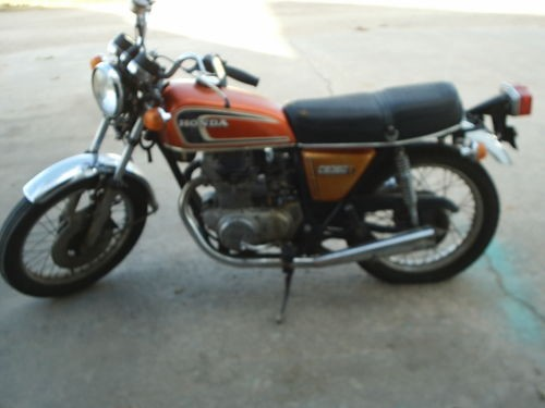 1974 Honda CB Orange photo