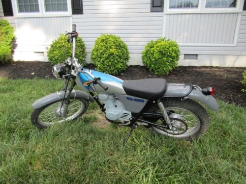 1974 Honda HONDA TL125 TRIALS BLUE AND SILVER for sale craigslist