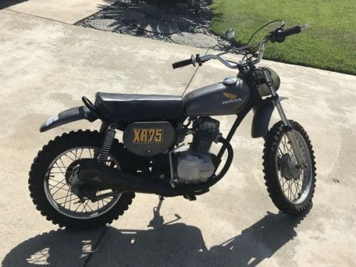 1974 Honda XR75 Black photo