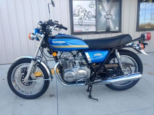 1974 Kawasaki KZ400 Blue photo