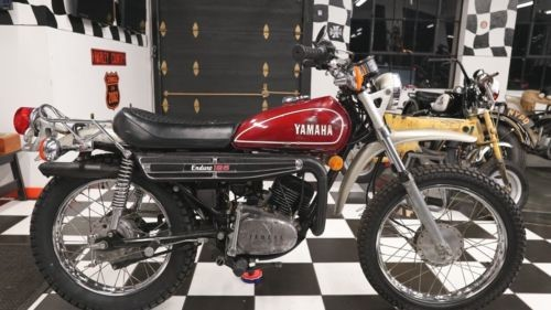 1974 Yamaha DT125 Enduro Original Burgundy Red for sale