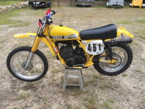 1974 Yamaha SC500 Yellow photo