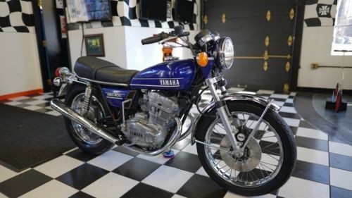 1974 Yamaha TX500A Bird Blue photo