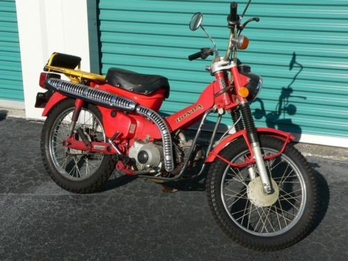 1975 Honda CT-90 motorcycle original 2 owner K-5 Trail 90 red photo