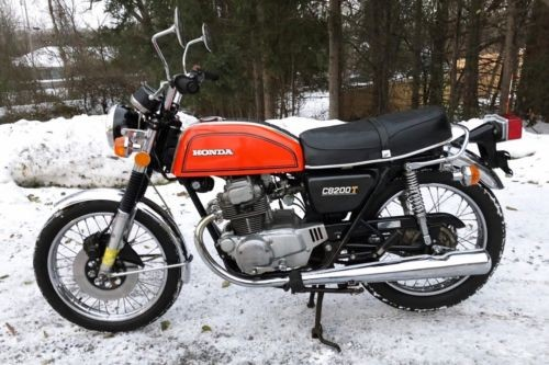 1976 Honda CB Orange photo