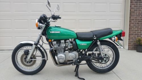 1977 Kawasaki KZ650B Green photo