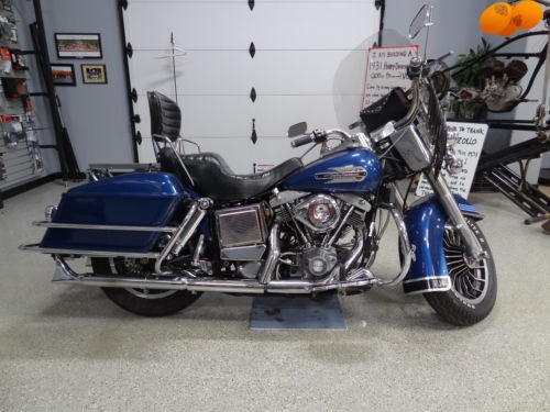 1979 Harley-Davidson Touring Blue photo