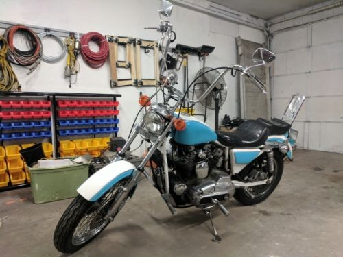 1980 Harley-Davidson Sportster Blue photo