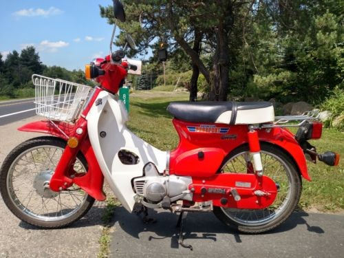 1981 Honda Passport / C70 Red / White photo