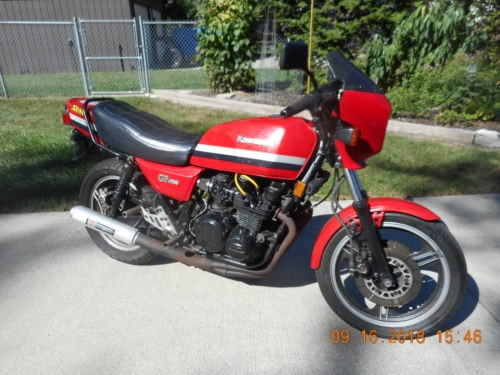 1982 Kawasaki 750 GPZ Red for sale craigslist
