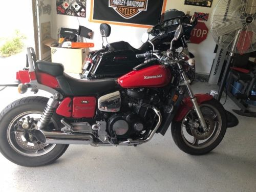 1985 Kawasaki 900 eliminator Red photo