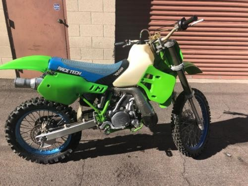 1991 Kawasaki KX Green photo