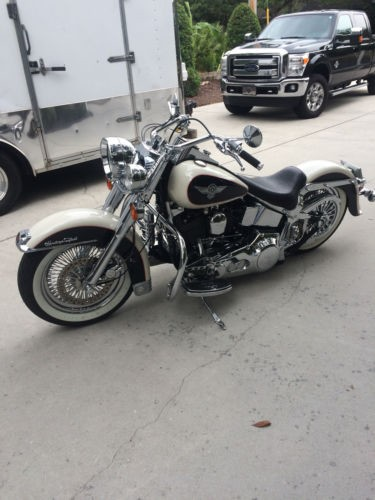 1993 Harley-Davidson Softail Birch White and Black photo