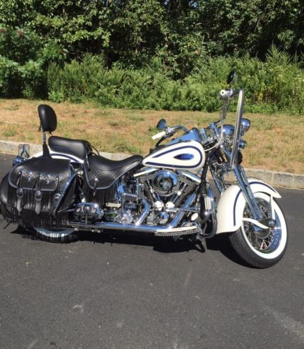 1997 Harley-Davidson Softail Pearl White with Blue Stripes for sale craigslist