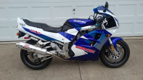 1997 Suzuki GSX-R Blue photo