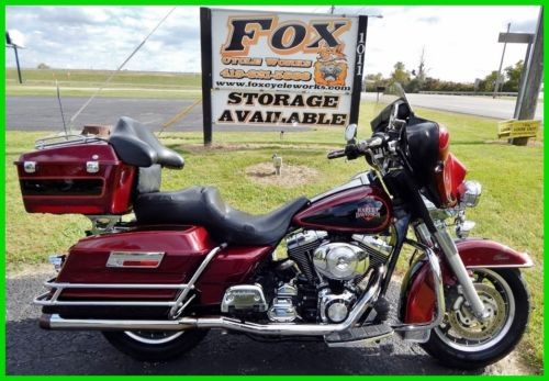 2000 Harley-Davidson FLHTCI Electra Glide Classic - Injected Luxury Rich Red / Vivid Black for sale craigslist