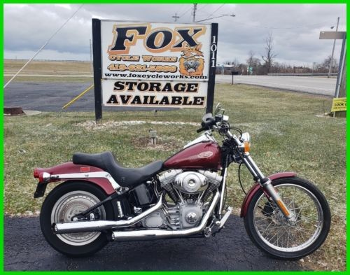 2000 Harley-Davidson FXST Softail Luxury Rich Red photo