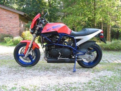 2001 Buell Lightning Orange with Blue Frame & Wheels craigslist